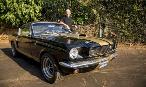 Car collector revs to classic car show